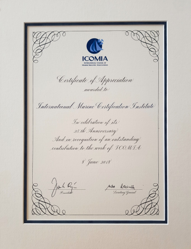 "ICOMIA honours IMCI for ""outstanding contributions"""